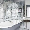 Зеркальная плитка прямоугольники ванная
