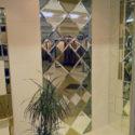 Зеркальная плитка панно диагональное