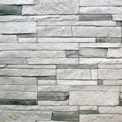 """Гипсовая плитка """"Рим"""" арт.201 серый, черные вставки"""