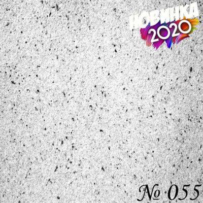 Жидкие хлопковые обои «ДекорСтенов» Белый с черным № 055